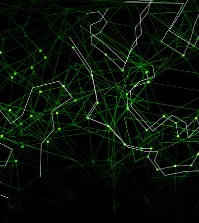 nodes: Dots with connections, triangles light background