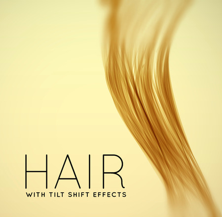 long hair: Closeup of long human hair Illustration