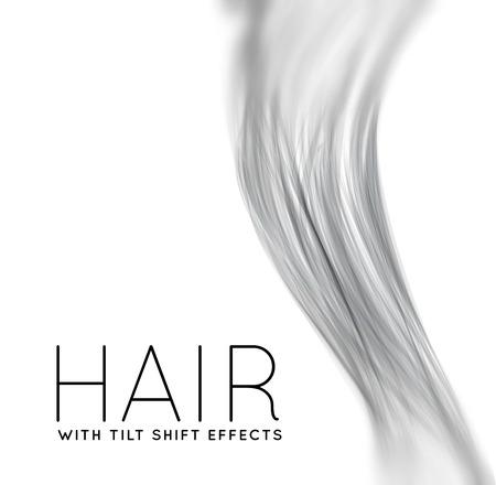 髪の毛長いのクローズ アップ  イラスト・ベクター素材