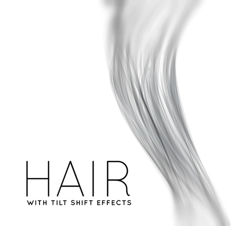 Closeup of long human hair Illustration