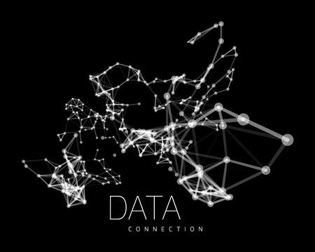 Abstrakt Netzwerkverbindung Hintergrund Standard-Bild - 39704268