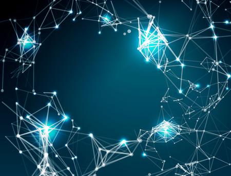 technology: Fondo abstracto de conexión de red Vectores