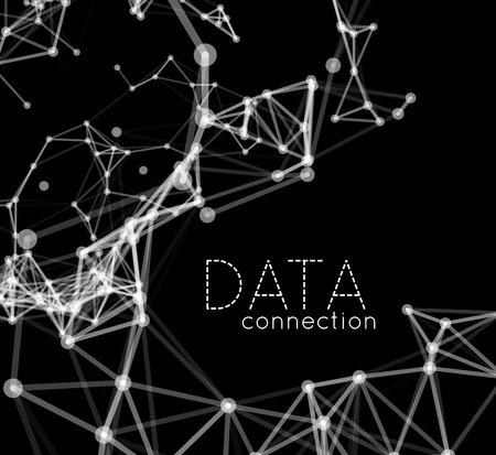 connect the dots: Abstract network connection background