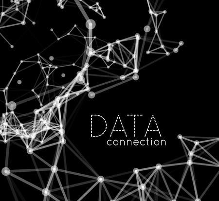 Abstrakt Netzwerkverbindung Hintergrund Standard-Bild - 39736568