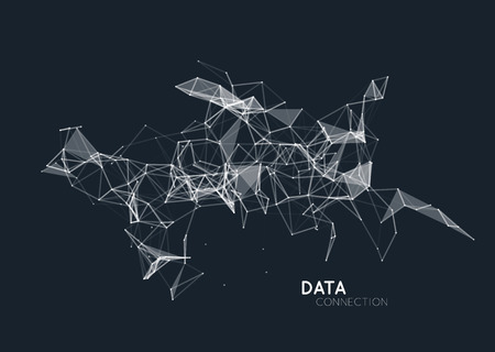 Abstract network data connection. Vector technology background
