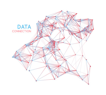 network people: Abstract network connection background