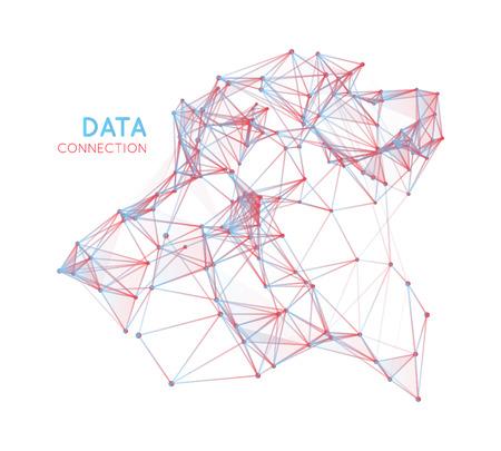 Abstrakt Netzwerkverbindung Hintergrund Standard-Bild - 40622857