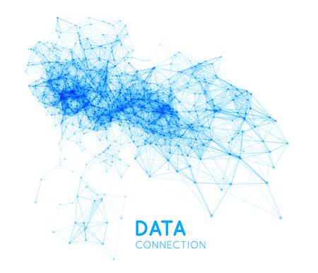 Abstrakt Netzwerkverbindung Hintergrund Standard-Bild - 40622858