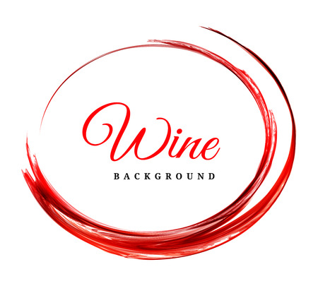 ringe: Abstract red wine background Illustration