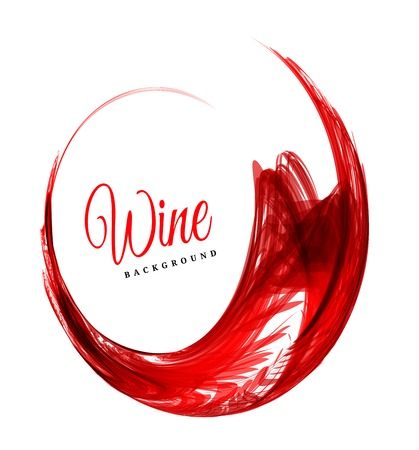 Abstract red wine background Çizim