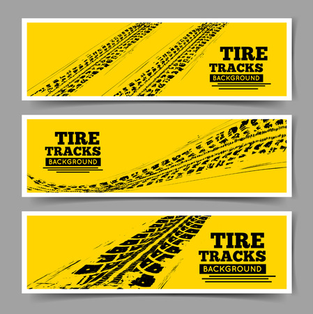 bicicleta: Huellas de neumáticos fondo Vectores