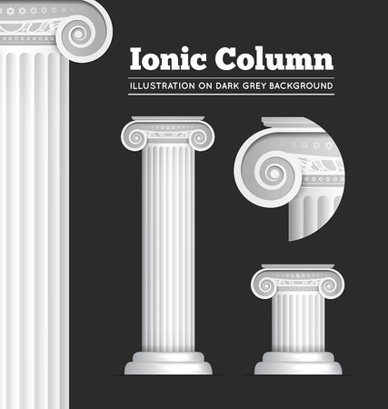 law and order: Classical Greek or Roman Ionic column