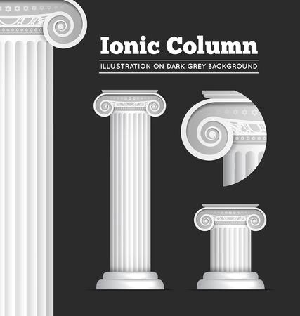 derecho romano: Columna clásica griega o romana Ionic