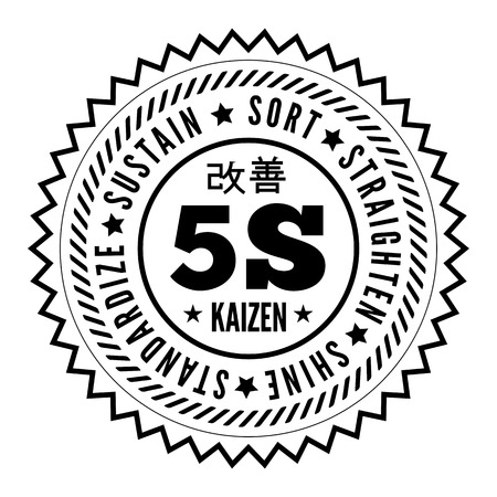 5S Methodik Kaizen-Management aus Japan Illustration
