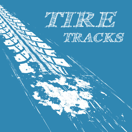 dirt bike: Tire tracks