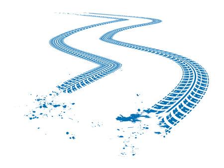 huellas de neumaticos: Tire pistas Vectores