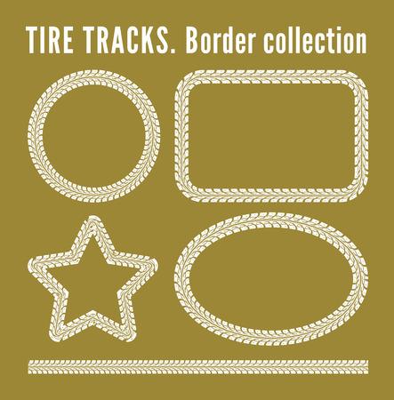 truck tire: Tire tracks