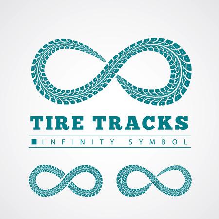 the tire: Tire tracks