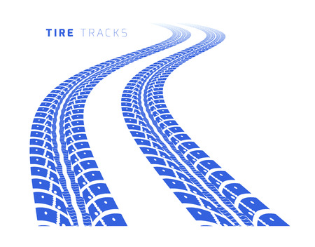 car tracks: Tire tracks