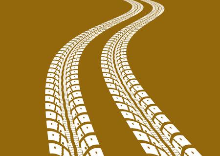tire track: Tire tracks