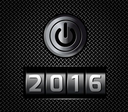 new year counter: New Year counter 2016 with power button