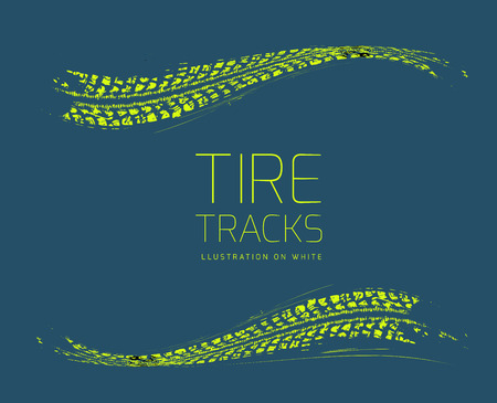 tire tread: Tire tracks background. Vector illustration. can be used for for posters, brochures, publications, advertising, transportation, wheels, tires and sporting events Illustration