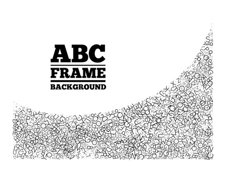 article writing: Frame created from the letters of different sizes Illustration