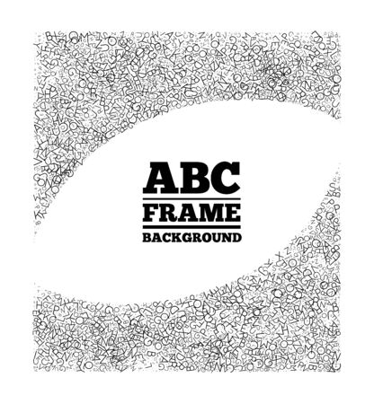 article writing: Frame created from the letters of different sizes.