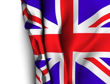 flag banner: Waving flag of Uk - United Kingdom. Vector illustration