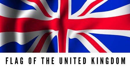 europe closeup: Waving flag of Uk - United Kingdom. Vector illustration