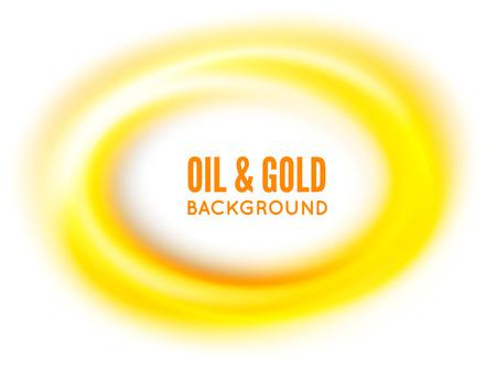 Olie of goud. Vector illustratie op witte achtergrondkleur