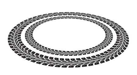 tread: Tire tracks. Vector illustration on white background Illustration