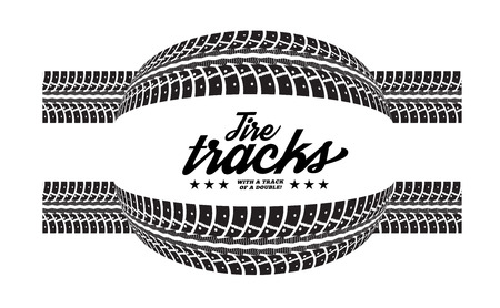 Tire tracks. Vector illustration on white background Vectores