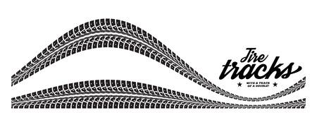 Tracce di pneumatici. Illustrazione vettoriale su sfondo bianco Archivio Fotografico - 43565315