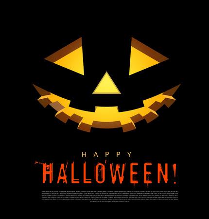 smilling: Halloween background with pumpkins lantern. Vector illustration