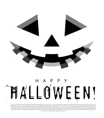 glowing carved: Halloween background with pumpkins lantern. Vector illustration