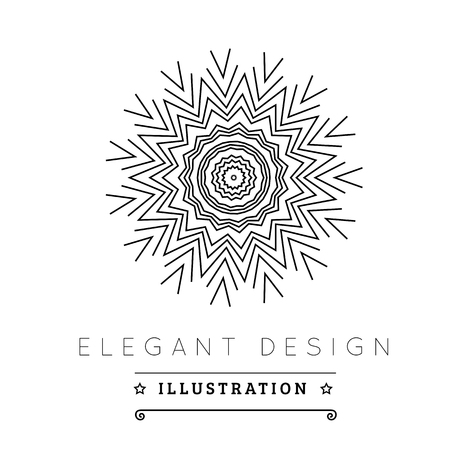 minimal: Logo template. Black and white design. Outline style. Conceptual minimal icon. Use for card, poster, brochure, banner, web. Easy to edit. Vector illustration - EPS10