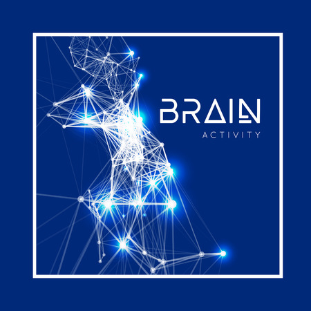 Concept of an Active Human Brain. Vector illustration