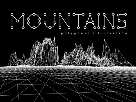montane: Wireframe mesh polygonal surface