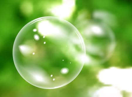 freshness: Blurred natural vector background with soap bubbles Illustration