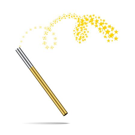 Magic wand vector illustration isolated on white background Illustration