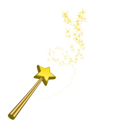 miraculous: Magic wand vector illustration isolated on white background Illustration