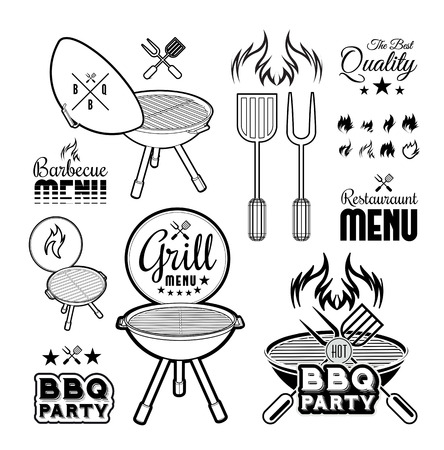 grill: Barbecue grill vector illustration on white background