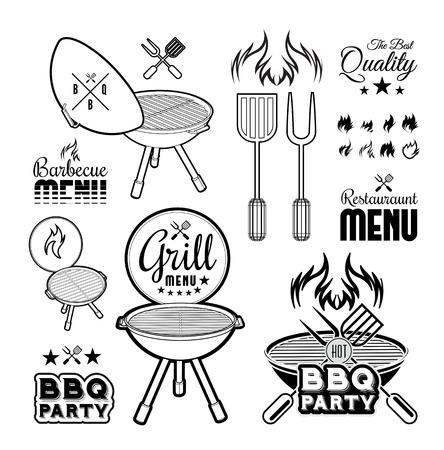 speisekarte: Grill Vektor-Illustration auf wei�em Hintergrund