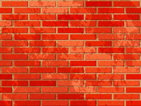 red brick: Red brick wall. Vector illustration with noise textures Illustration