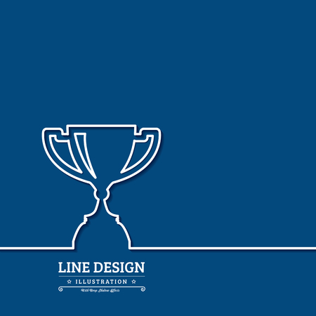 award winner: Winner award cup. Thin line web icons with outline . Vector illustration