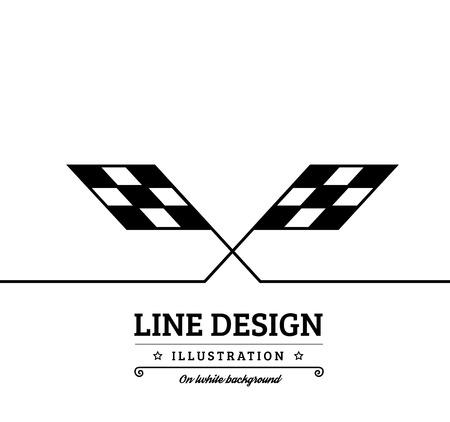 checkered: Background checkered flag. Vector illustration