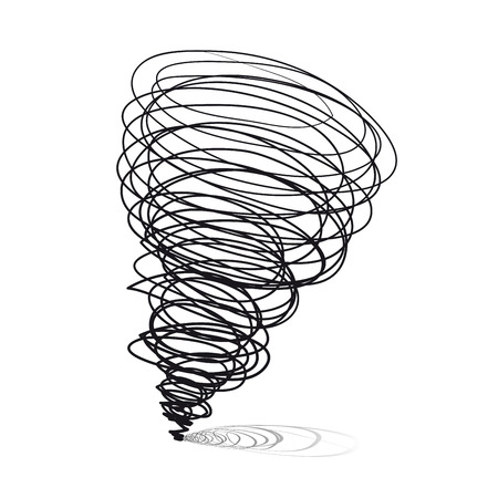 windstorm:  illustrations. Cyclone tornado on a white background