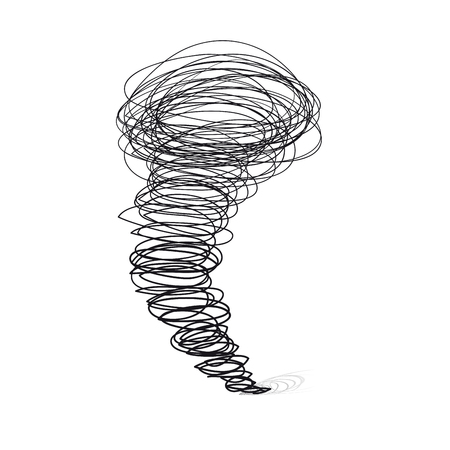 wind dramatic sky:  illustrations. Cyclone tornado on a white background