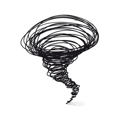 tornado wind:  illustrations. Cyclone tornado on a white background
